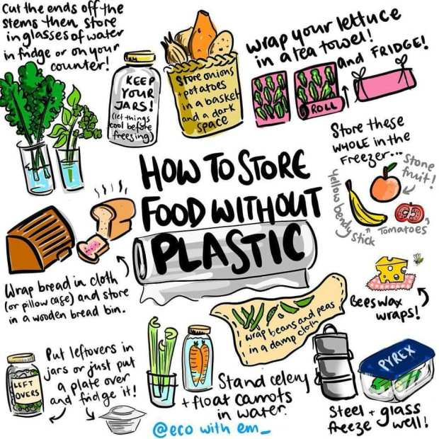 no plastic in your fridge