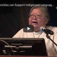 Dr Lorna Williams' address on how universities can support indigenous language revitalization