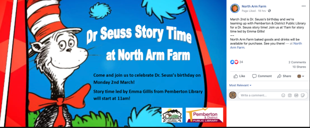 Dr Seuss' story time March 2