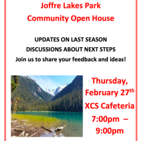 Joffre Lakes Park Community Open House, Feb 27, XCS Cafeteria