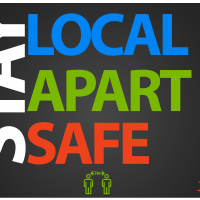 Stay apart, stay local, stay safe and stay 100% all in