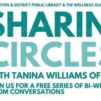 Come hang out with me and Tanina on Monday night! Sharing Circle gets underway, via Zoom, 8pm