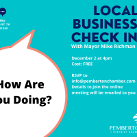 Pulse-check for local business - check in with Mayor Mike Richman, hosted by the Pemberton Chamber, tomorrow