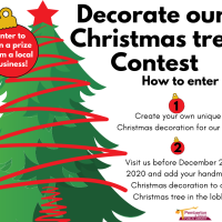 Decorate the library's Christmas tree! Drop off your decoration by 23 December and add to the tree in the lobby!