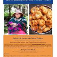 Bannock and Stories with Tanina Williams, Sunday Feb 14 2-4pm
